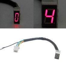 Универсальный светодиодный цифровой Шестерни индикатор мотоцикла Дисплей перемещения рычага переключения передач для датчики