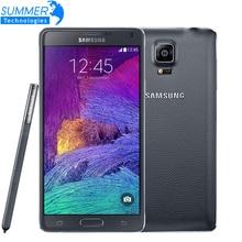"""Оригинальный разблокирована Samsung Galaxy Note 4 N9100 N910 Snapdragon 805 LTE 5.7 """"16 ГБ ROM 3 ГБ оперативной памяти NFC WLAN мобильный телефон"""