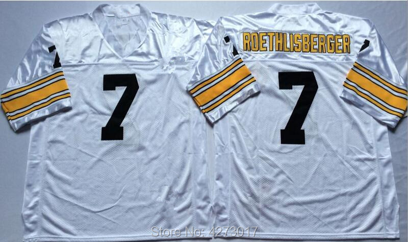 dcdec0736 Mens 7 Ben Roethlisberger Embroidered Throwback Football Jersey Size M XXXL-in  America Football Jerseys from Sports   Entertainment on Aliexpress.com ...