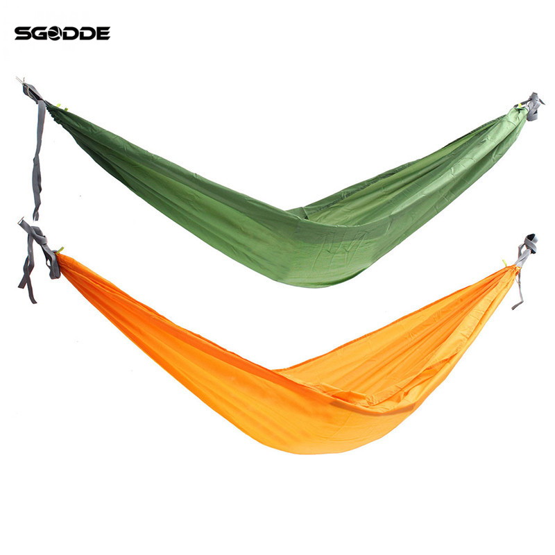 SGODDE Double Person Hammock Swing Bed Portable Parachute Travel Camping 2700*1500MM Outdoor Camping Travel Furniture furniture size hanging sleeping bed parachute nylon fabric outdoor camping hammocks double person portable hammock swing bed