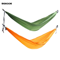 SGODDE Double Person Hammock Swing Bed Portable Parachute Travel Camping 2700 1500MM Outdoor Camping Travel Furniture