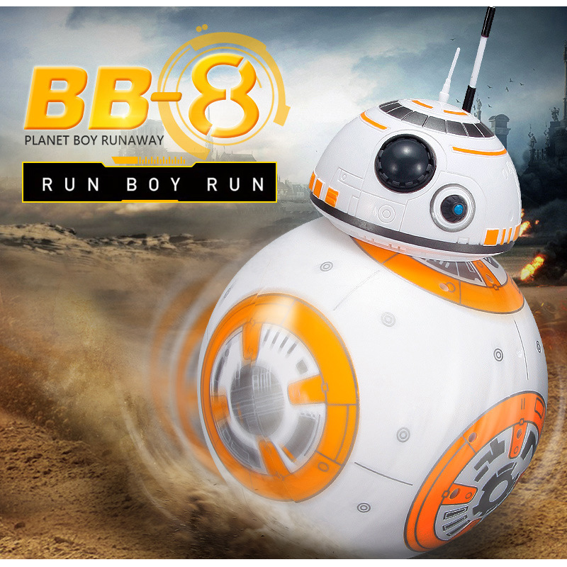Free Shipping BB-8 Ball Star Wars RC Action Figure BB 8 Droid Robot 2.4G Remote Control Intelligent Robot BB8 Model Kid Toy Gift free shipping super big size 12 super mario with star action figure display collection model toy