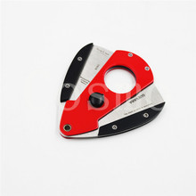 Guevara Stainless Steel Cigar Cutter Pocket 3 color Guillotine Double Blades  for Best Gift