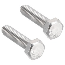 UXCELL 2Pcs Bolts M6 Thread 25/30/50mm 304 Stainless Steel Hex Head Left Hand Screw Fastener For Communication Equipment