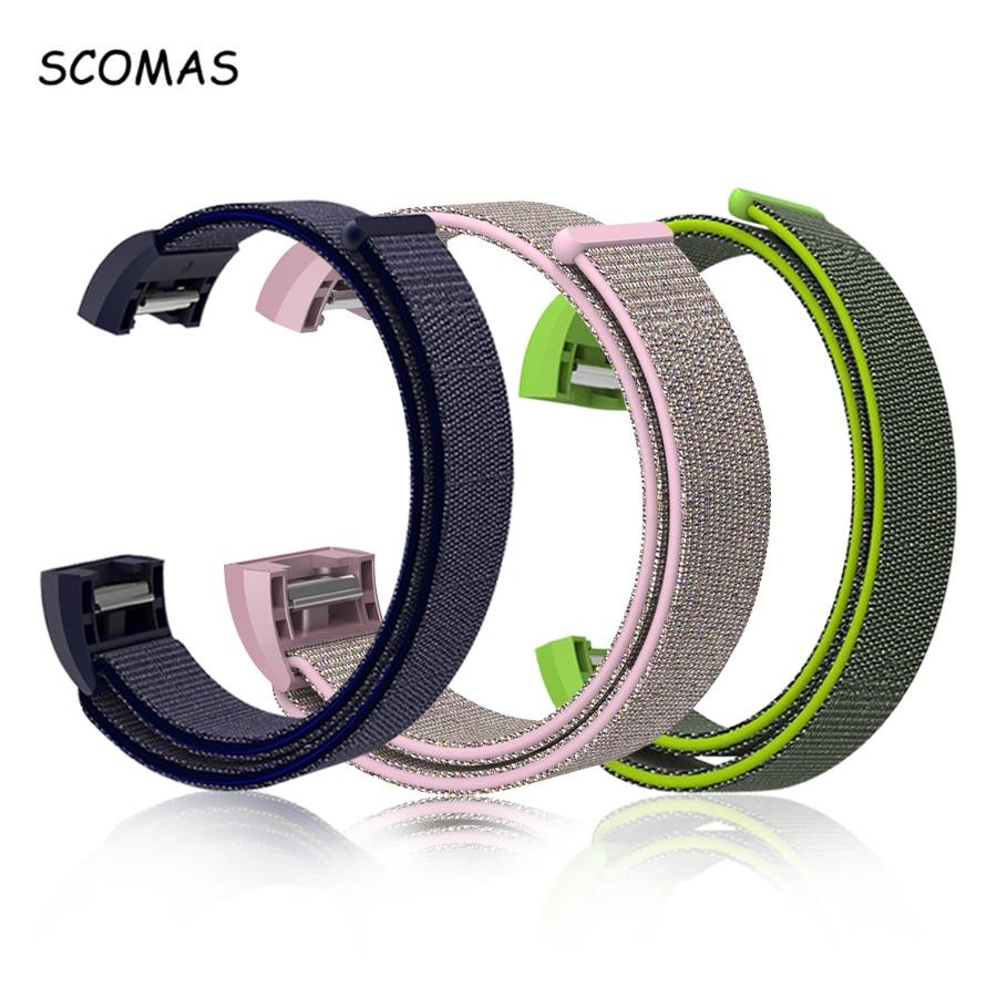 SCOMAS Pour Fit Bit Charge 2 Smart Tracker Nylon Magnétique Boucle Respirant Courroie De Remplacement pour Fitbit Charge2 Poignet Bande Ajuster