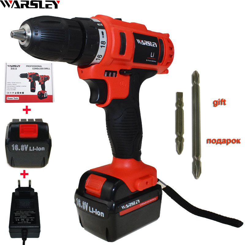 16.8v Cordless Drill Electric Drill Electric 1.5Ah Batteries Screwdriver Power Tools Mini Drill Drilling Electric Screwdriver free shipping brand proskit upt 32007d frequency modulated electric screwdriver 2 electric screwdriver bit 900 1300rpm tools