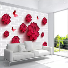 Simple atmospheric flower wall professional production mural wholesale wallpaper poster photo