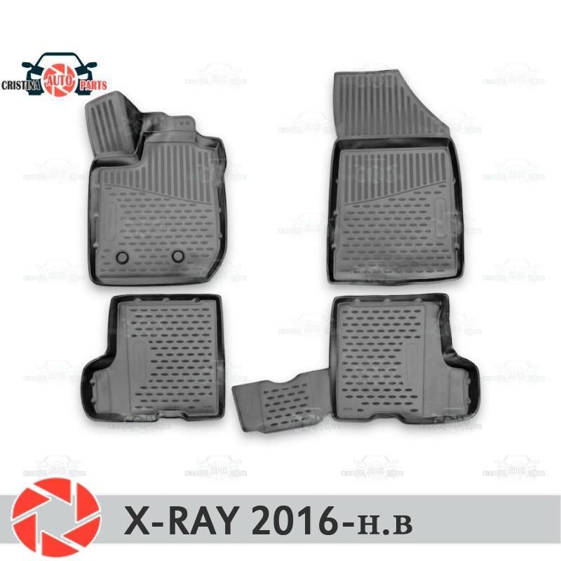 Фото - For Lada X-Ray 2016- floor mats rugs non slip polyurethane dirt protection interior car styling accessories dvd blu ray