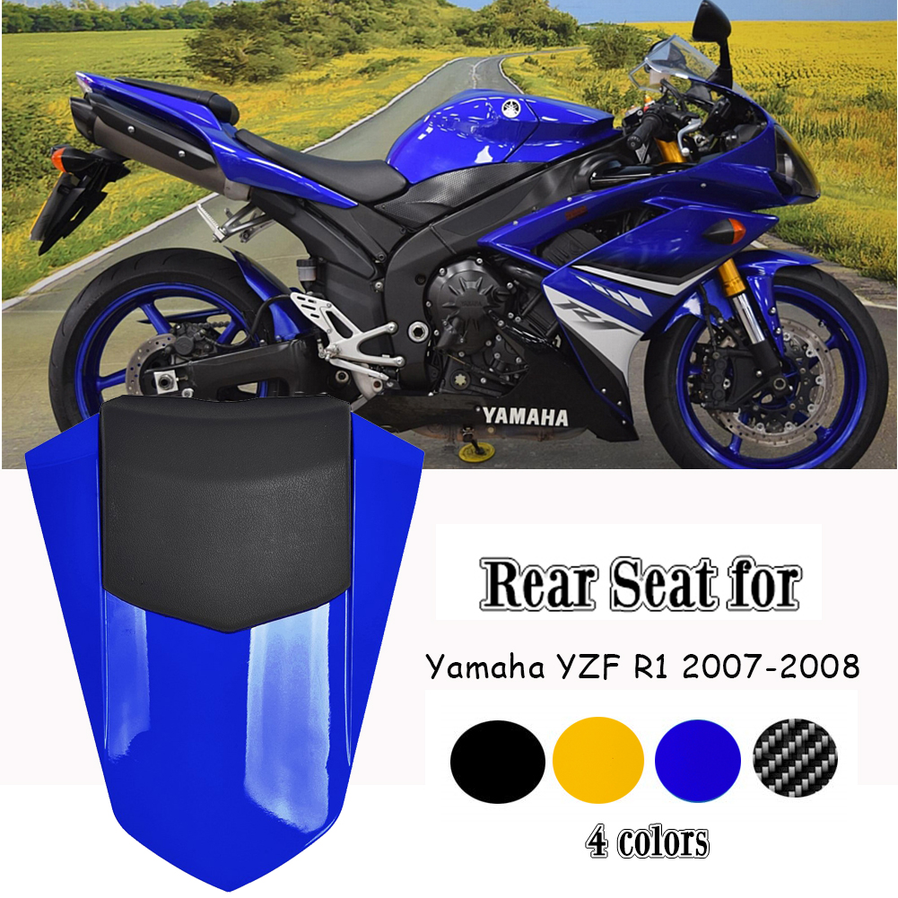 Black GZYF Motorbike Rear Passenger Pillion Seat Cowl Fairing Cover Yamaha YZF R6 2017-2018