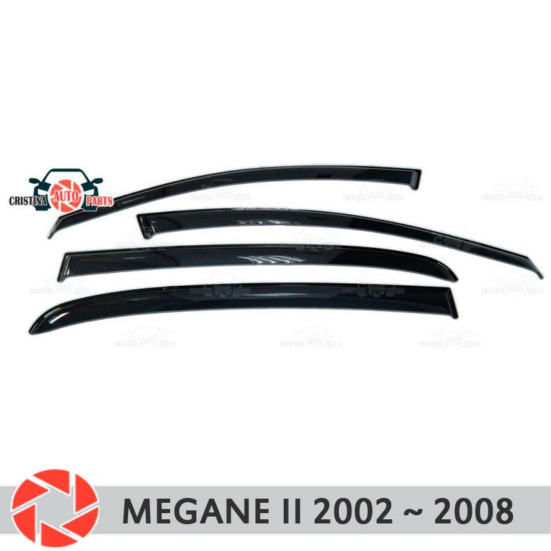 Window deflector for Renault Megane 2 2002-2008 rain dirt protection car styling decoration accessories molding