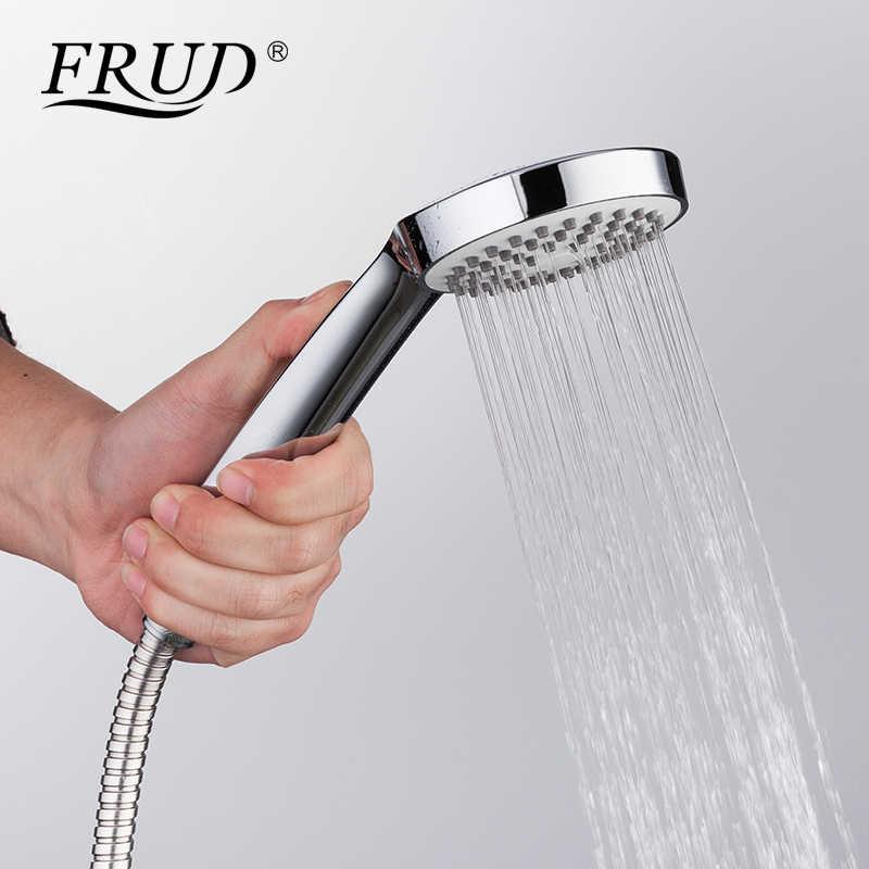 FRUD New Arrival klasyczny biały prysznic kran długa wylewka z kranu bateria do wanny ze stopu cynku z kranu zestaw wanna deszczownica mikser R22301