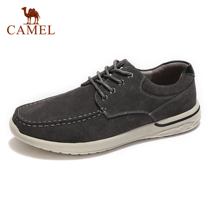 CAMEL Casual Men's Shoes Autumn Men Sets of Feet Scrub Genuine   Leather   Lightweight Man Loafers Comfortable Flats Footwear
