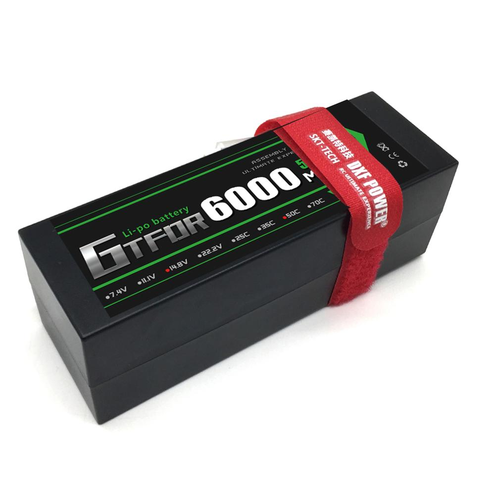 GTFDR 4S Lipo Li-Polymer Battery 14.8V 6000mAh 50C Burst 100C Hard Case AKKU for RC Car Quadcopter Helicopter Airplane image