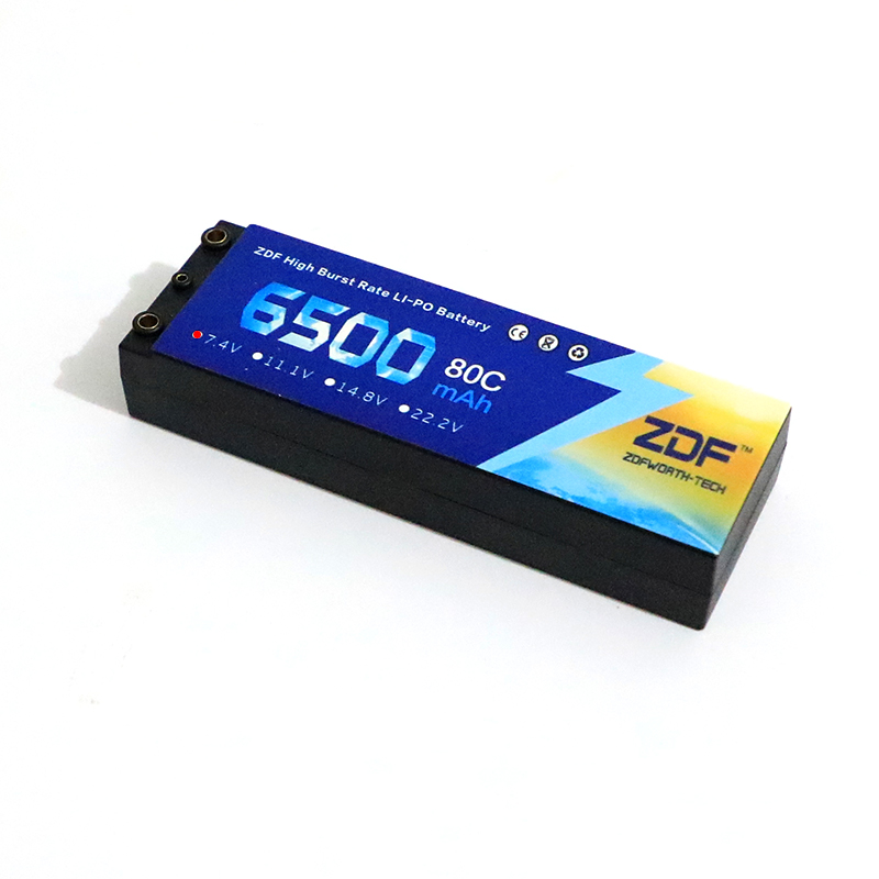 2 pcs ZDF Lipo Batterij 2 S 6500 mAh Lipo 7.4 V Batterij Deans Plug 80C 160C 1/8 Schaal voor Traxxas Slash 4x4 RC Auto - 4
