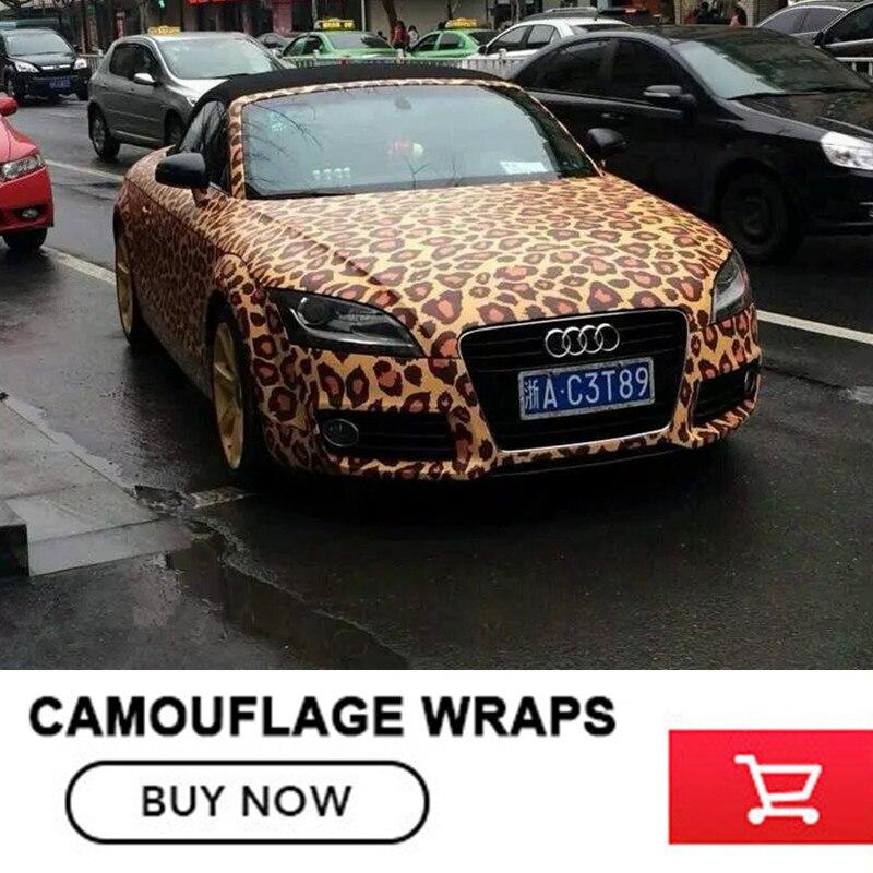 Leopard Camo Car Wrap Sticker Bomb Vinyl Leopard Camouflage Vinyl Sticker camouflage custom car sticker bomb camo vinyl wrap car wrap with air release bomb sticker car body sticker motorcycle sticker