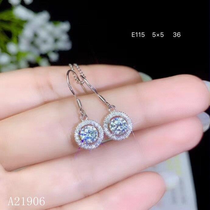 KJJEAXCMY boutique bijoux 925 en argent sterling incrusté de diamants Mosang pierres précieuses femmes boucles d'oreilles soutien re-examen bn