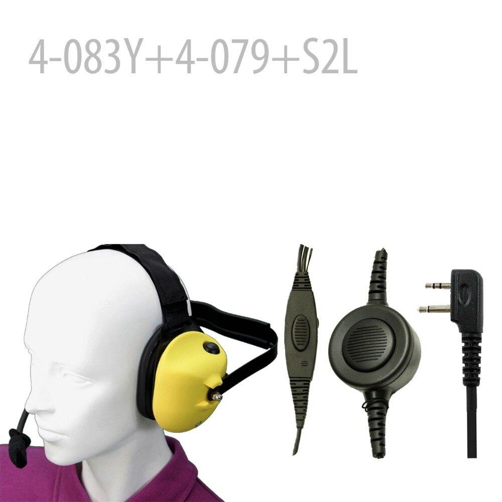 Robuste Casque à réduction de Bruit-Y + Mini Fiche Din 44-S2L pour SP14 SP120 SP130 SP300 75-785 75440 G-225 G-227 G-300 GTX-200