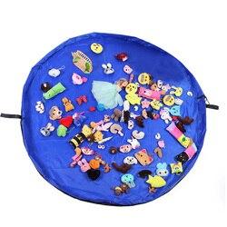 150cm Toy Storage Bag TIDY Organizer Rug For Legos Portable Kids Play Mat Picnic Play Mat Home Children Garden  Blocks Blanket