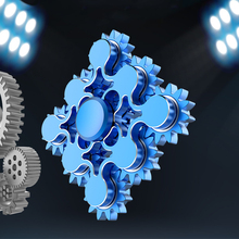 Nine Gears Linkage Finger Spinner Machinery Hand Gyro ADHD Stress Relief EDC Toy