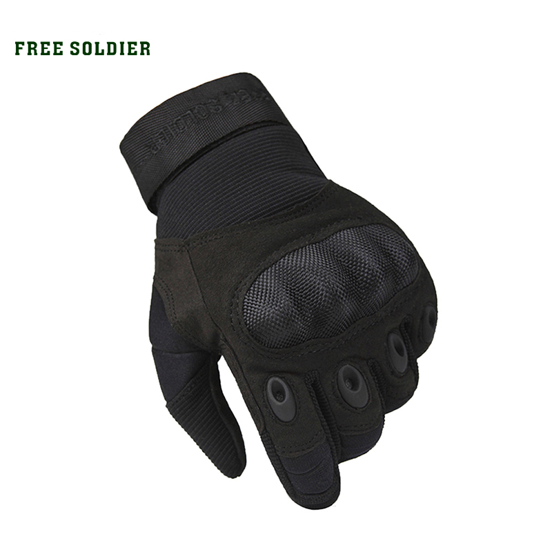 FREE SOLDIER Outdoor Sports Tactical Gloves, Climbing Gloves Men's Full Gloves For Hiking Cycling Training north edge men sports fishing altimeter barometer thermometer weather forecast pedometer watches digital hiking climbing watch