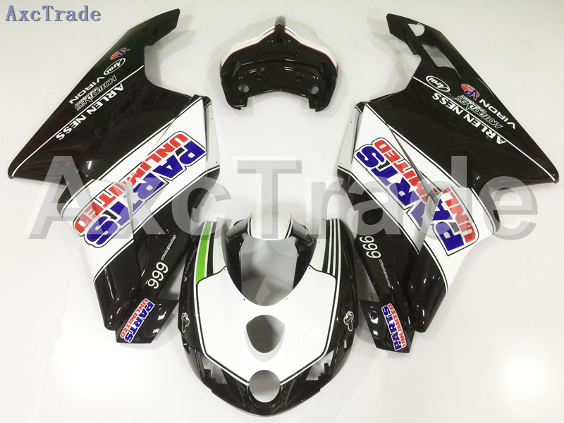 Motorcycle Fairings Kits For Ducati 749 999 2005 2006 05 06 ABS Injection Fairing Bodywork Kit White Black A77 plastic fairings set for kawasaki zx6r 2005 2006 bodywork sets 05 06 parts ninja 636 green flames in black fairing kits m161