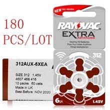 180 baterias extra a312 312a za312 312 pr41 da prótese auditiva do ar do zinco dos pces rayovac bateria a312 da prótese auditiva para a prótese auditiva