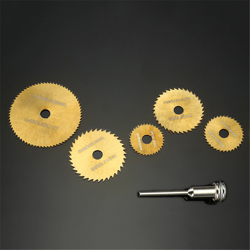 DANIU SW-B2  6pcs / Set HSS Circular Saw Blades Set Titanium Coated Saw Blades For Dremel Rotary Tools