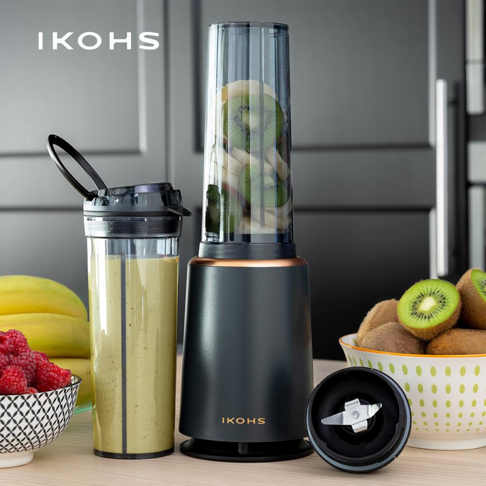 IKOHS ABDA SLIM Glass Blender Shakes 400ml 234W Vegetable Fruit Juicer Orange Electric Mixer Smoothie