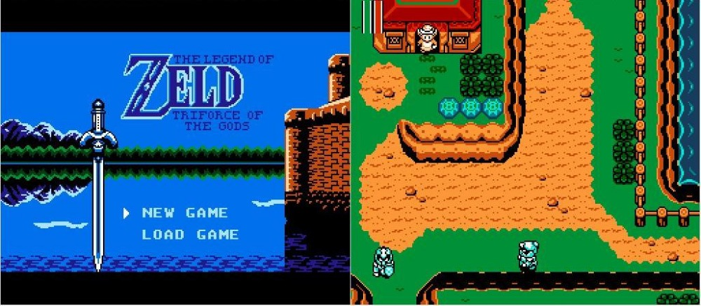 THE ZELD@ 3 Triforce of the Gods Game Cartridge for NES Console image