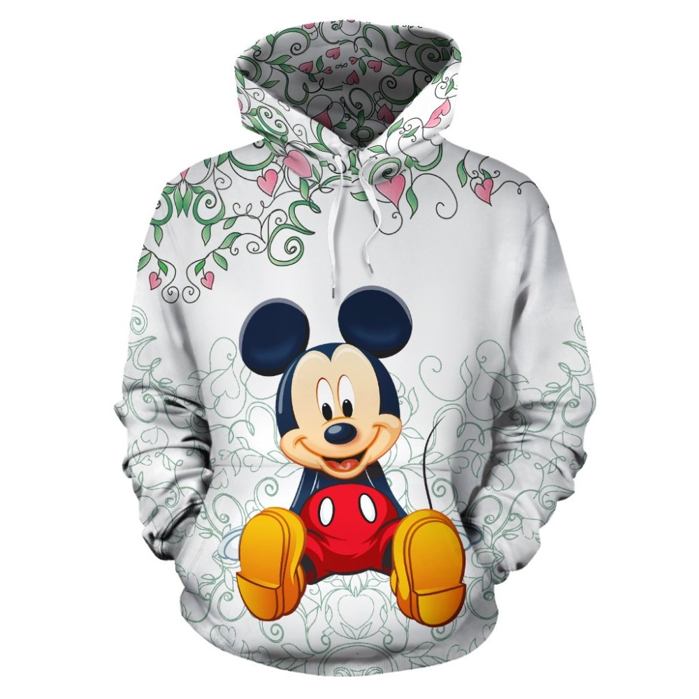 YX Girl 7XL Mens 3d Print Mouse With Peach Bloss Hoodie Men Women Hooded Sweatshirt Autumn Thin Pullover Outwear Dropshipping