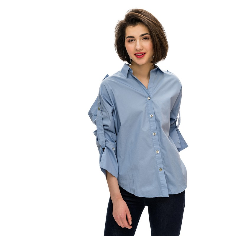 Blouses & Shirts blouse befree for female cotton shirt long sleeve women clothes apparel  blusas 1811400356-41 TmallFS scatter print long sleeve shirt