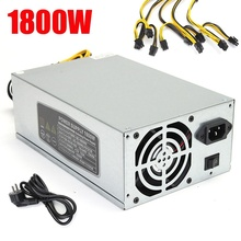 New 10 x 6 pin 1800W Power Supply Suitable For S9 T9 S7 A7 A6 E9 A4 Miner High Quality Computer power Supply For BTC Mining