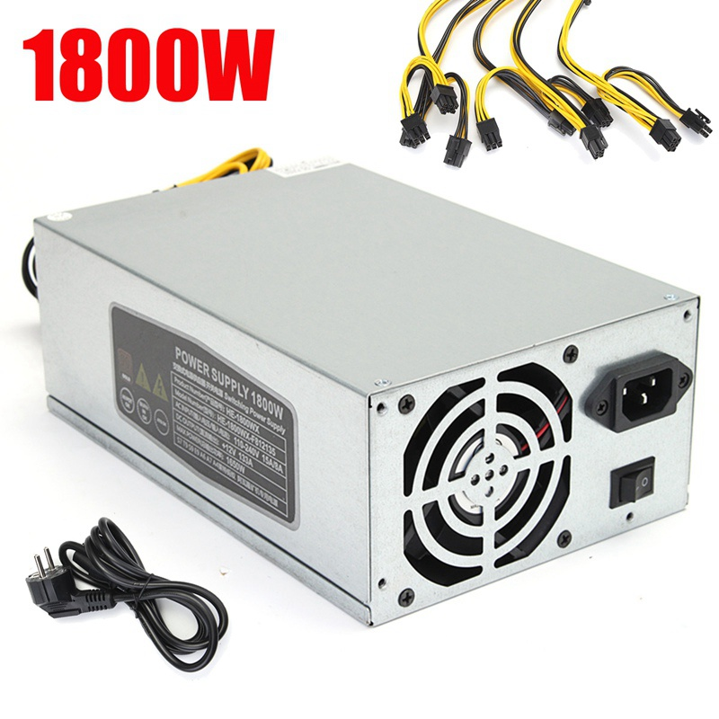 New 10 X 6 Pin 1800W Power Supply Suitable For S9 T9 S7 A7 A6 E9