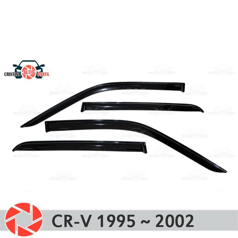 Window deflector for Honda CR-V 1995~2002 rain deflector dirt protection car styling decoration accessories molding jgrt car styling for honda crosstourled drl for crosstour led daytime running light high brightness guide led drl