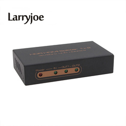 Larryjoe HDMI 2.0 HDR HDMI 스플리터 1x2 울트라 HD 4K @ 60 헤르쯔 해상도 HDR 및 HDCP2.2, 금속 쉘 4Kx2K @ 60 헤르쯔/1080 마력/3D