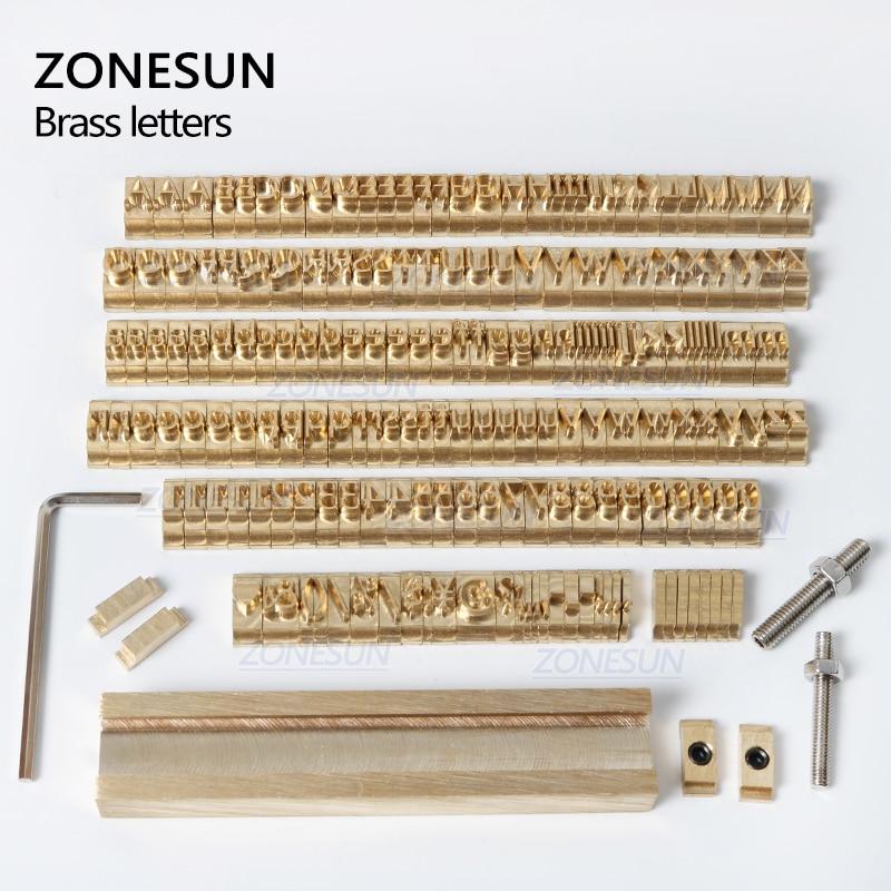 ZONESUN 184 PCS Alphabet Letter Set With Number Symbols 10cm T slot Letter Stamp For Hot Foil Stamping Machine Custom Logo Name - 5