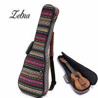 Zebra 21/23/26 Inch Cotton Nylon Độn Xách Tay Bass Guitar Gig Bag Ukulele Trường Hợp Hộp Guitarra Bìa ba lô Với Dây Đeo Đôi