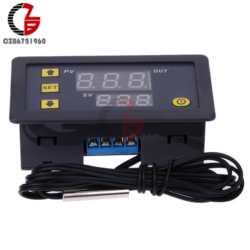 UTB8lupTBqrFXKJk43Ovq6ybnpXa9 DC 12V 24V 110V 220V AC 20A LED Digital Temperature Controller Thermostat Thermometer Temperature Control Switch Sensor Meter