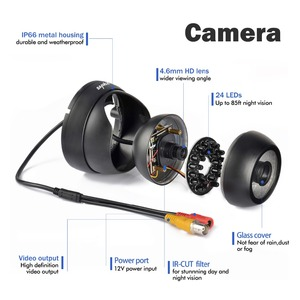 Image 3 - SANNCE 900TVL 3.6mm אנלוגי כיפת מצלמה ראיית לילה מקורה חיצוני עמיד IP66 IR מסנן אבטחת CCTV מערכת מצלמה