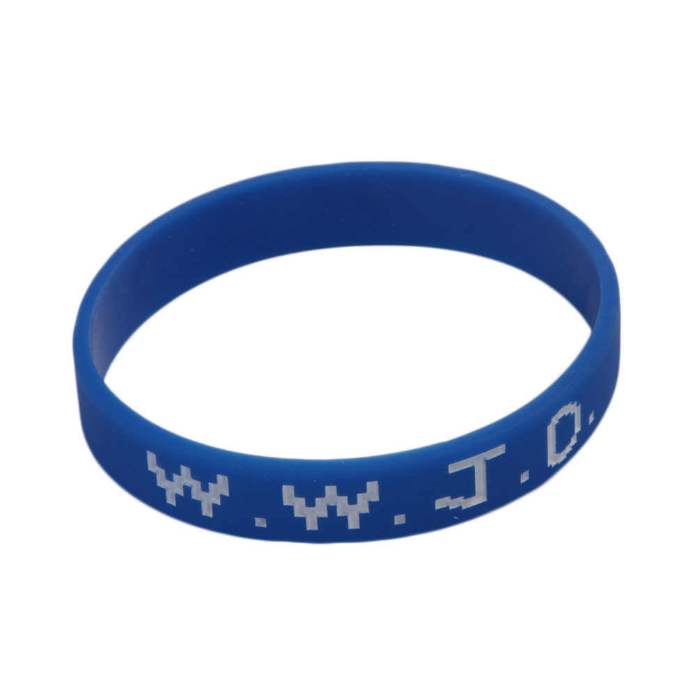 Charming New Fashion Wwjd Silicone Bracelets For Sport Rubber Wristbands Basketball Legend Star 4colors