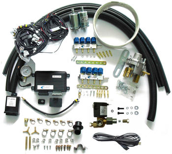 Methane CNG Sequential Injection System Conversion Kit for 8 Cylinder EFI Gasoline Cars
