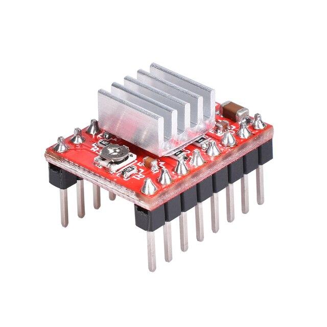 3D Printer Parts A4988 DRV8825 Stepper Motor Driver With Heat sink For SKR V1.3 1.4 GTR V1.0 RAMPS 1.4 1.6 MKS GEN V1.4 board 2
