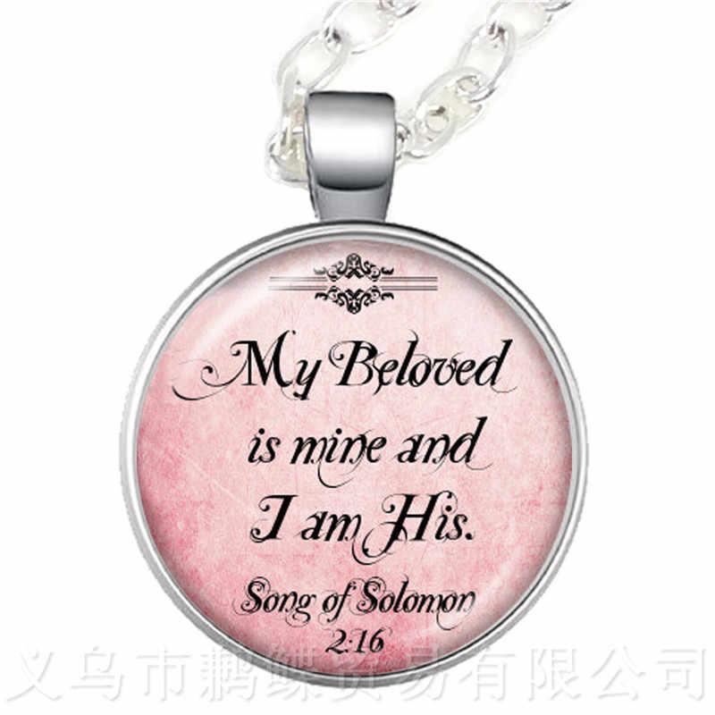 אלוהים הוא בתוך שלה, היא לא סתיו 25mm העגול זכוכית קרושון תליון שרשרת מתנה הטובה ביותר עבור חברים סוודר שרשרת
