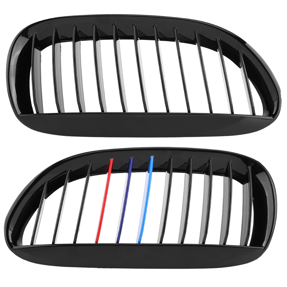 4c39c309efe7 Car Styling Glossy Front Grille Grilles For BMW 6 Series E63 E64 M6 05 10  Convertible Coupe Auto Accessories Black M -in Racing Grills from  Automobiles ...