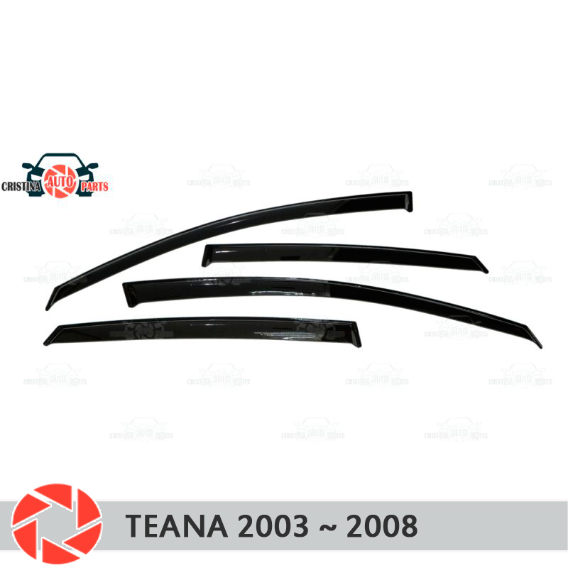 Window deflector for Nissan Teana 2003-2008 rain deflector dirt protection car styling decoration accessories molding free shipping for vland car headlamp for nissan teana led headlight led drl h7 hid xenon lamp projector lens lamp for 2008 2012