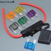 Мотоцикл MAXI ATC водонепроницаемый лезвие авто в линии пластиковый держатель для предохранителей с 8AWG провода для предохранителей 20A30A40A50A60A70A80A100A120A