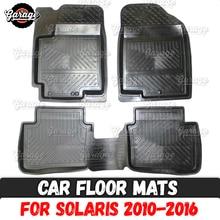 Автомобильные коврики, чехол для hyundai Solaris 2010- резина, 1 комплект/4 шт. или 2 шт., аксессуары для защиты ковров