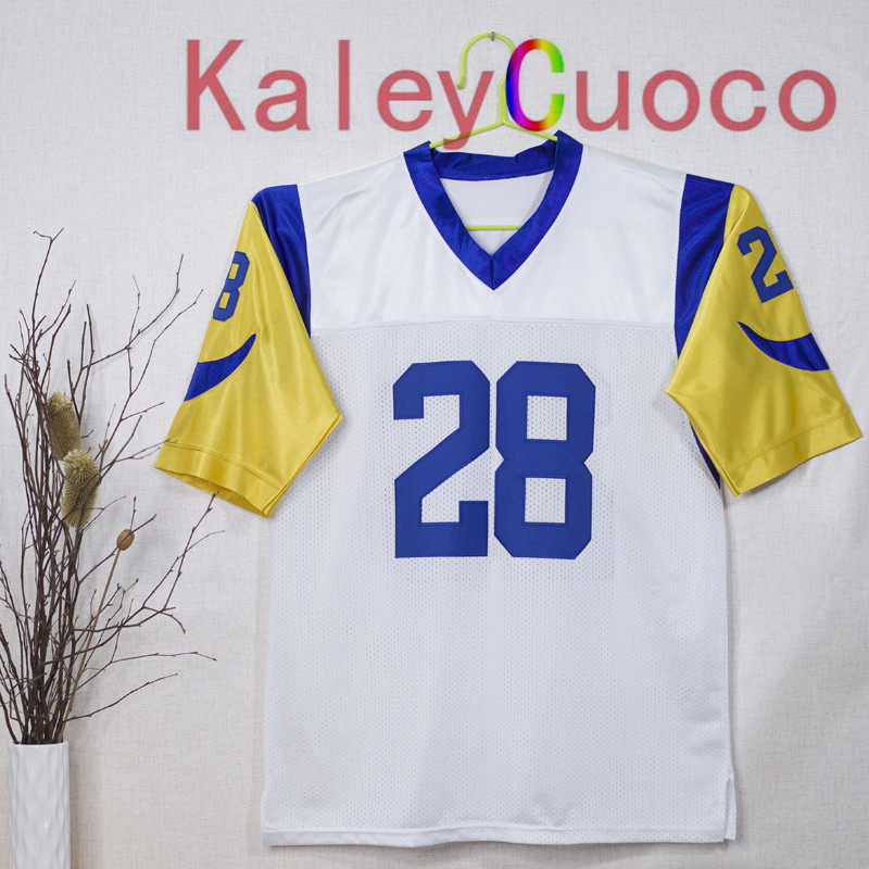 detailing 0817f a726a st. louis rams 28 marshall faulk white throwback jersey