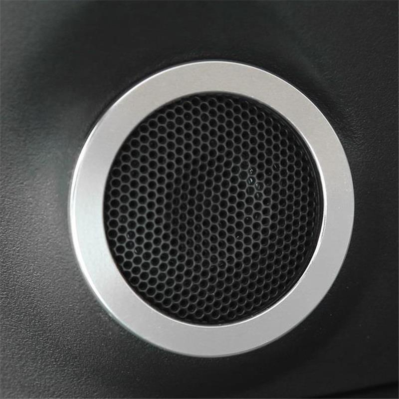 2* Carbon fiber Front Door Speaker Covers Trim For Honda CRV CR-V 17-2018 New