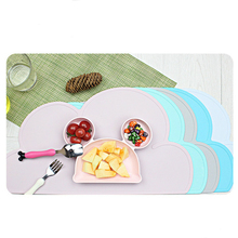 LIXYMO silicone food place mat cloud shaped heat proof heat insulated pad baby kids non-slip safe table mat seamless deaign